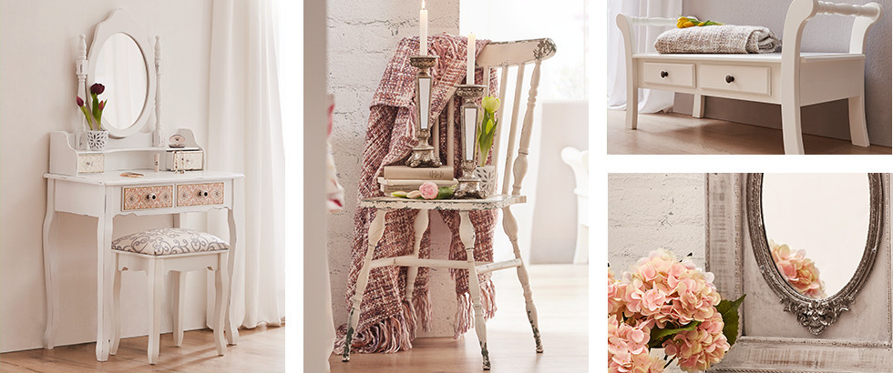 Möbel und Accessoires in frühlingshaften Farben und Design