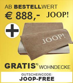 Gratis Wohndecke ab 888,-€ Bestellwert