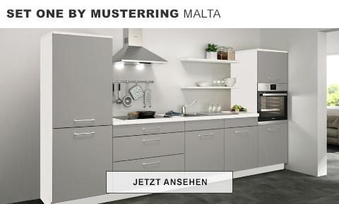 Set One by Musterring Malta Küchenzeile grau