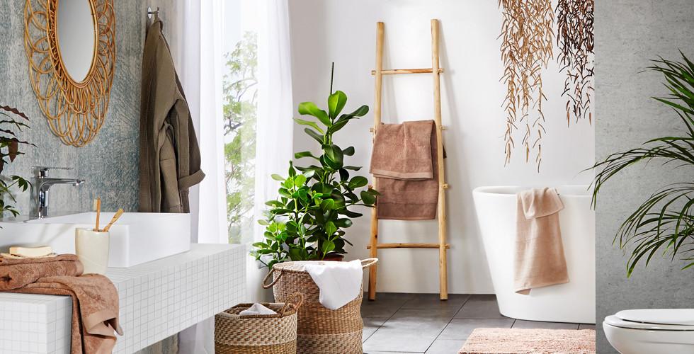 Natur im modernen Badezimmer