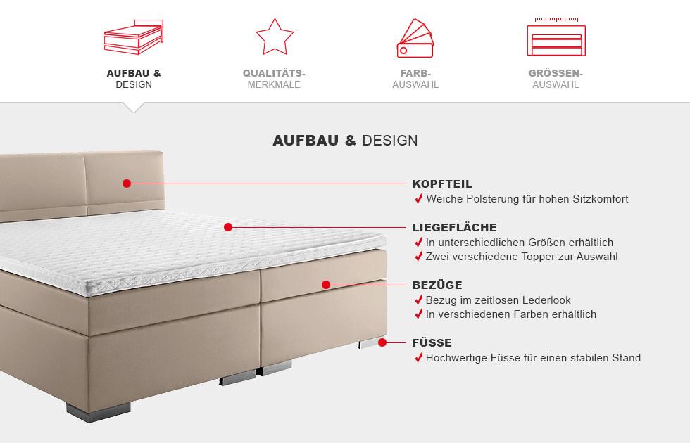 Boxspringbett Prinz Modern - Aufbau & Design Details