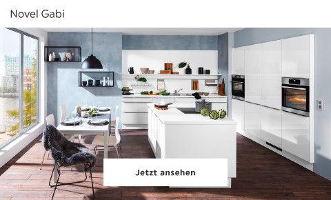Novel moderne Küchen weiß
