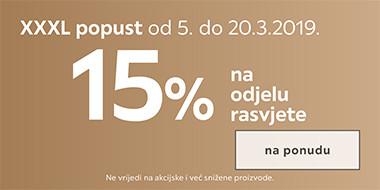 akcija rasvjeta 15%