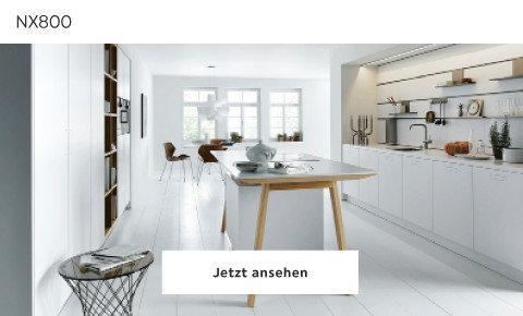 Weiße Minimalistische Küche Next NX800