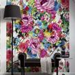 Tapeta z močnim cvetličnim vzorcem