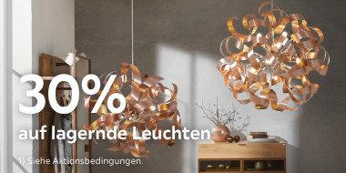 30% auf lagernde Leuchten