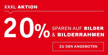 20% auf Bilder & Rahmen