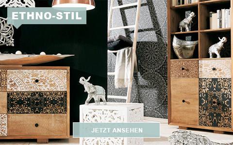 Ethno Stil Mit Exotischen Mustern Und Natu0026uuml;rlichen Materialien
