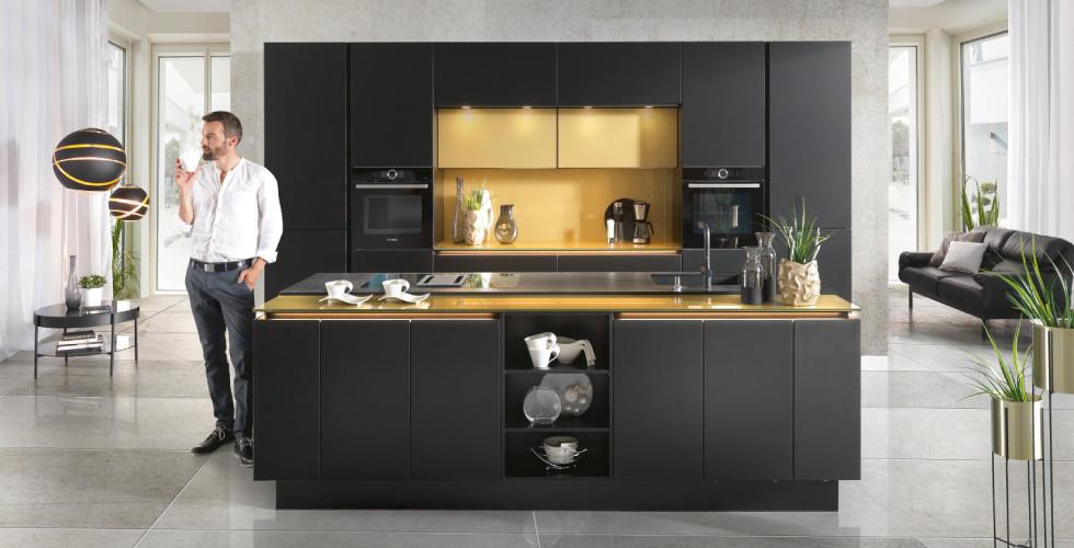 Schlichte Schwarze Küche Küchenstile