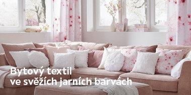 Textil v jarních barvách