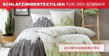 Schlafzimmertextilien für den Sommer