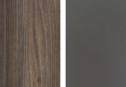 Musterring Arbeitsplattenfarben Nussbaum Lava metallic