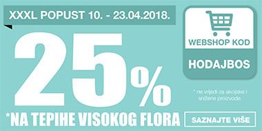25% popusta na tepihe visokog flora u Lesnini