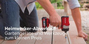 Heimwerker Abverkauf  Gartengeräte und Werkzeuge zum kleinen Preis