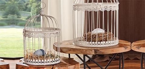 BIjele dekorativne krletke romantičnog stila