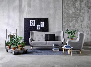 Elegantna sedežna v sivi barvi