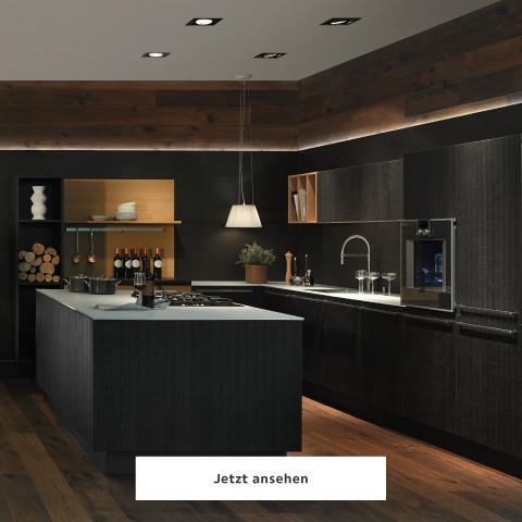 Nolte Neo Küche schwarz dunkel