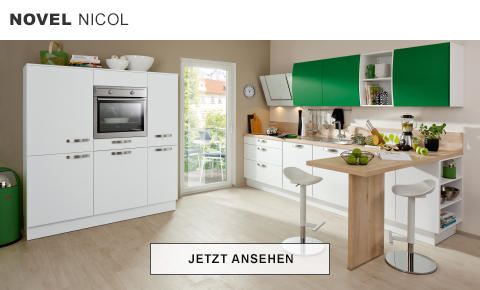 Novel Nicol Küche Weiß Grün