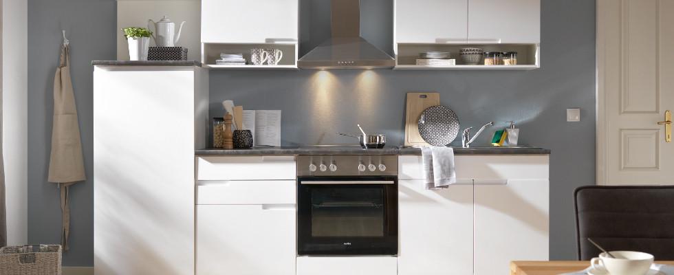 Singleküchen Küchenzeile Weiß