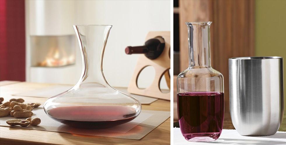 Degustace vína na nejvyšší úrovni. Dekantér nesmí chybět.