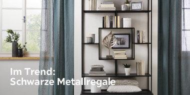 Im Trend: Schwarze Metallregale