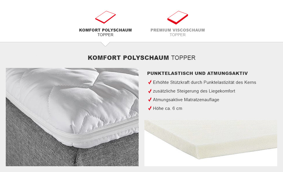 Boxspringbett Prinz Modern Komfort