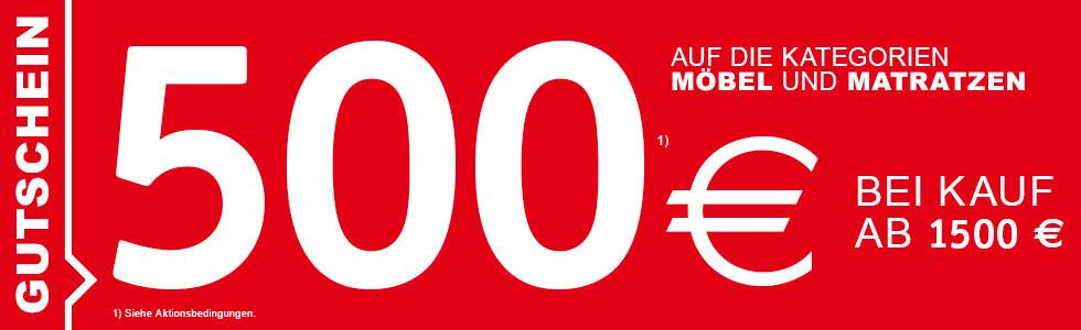 500 Euro geschenkt bei Kauf ab 1500 Euro