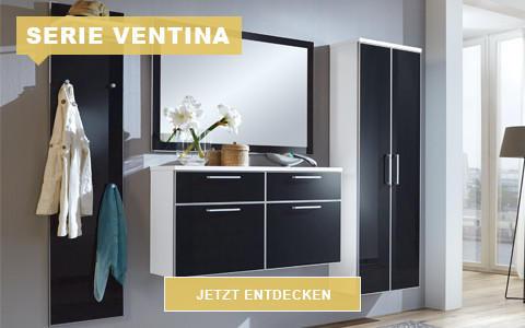 Garderobe Ventina schwarz weiß