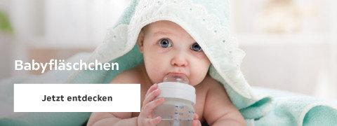Babyfläschchen Türkis Handtuch