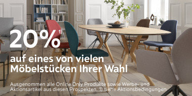 20% auf eines von vielen Möbelstücken