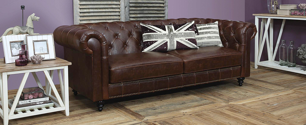 chesterfield moebel leder braun