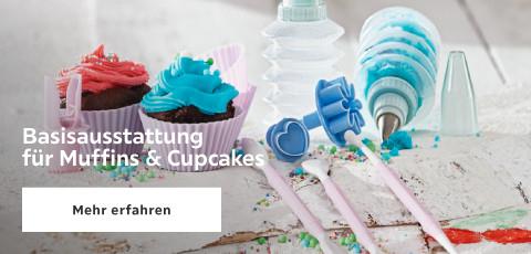 Basisausstattung fue Muffins und Cupcakes