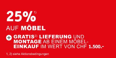 25% auf Moebel