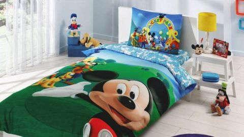Dječja posteljina s motivom Mickey Mousea