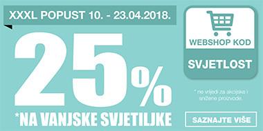 25% popusta na vanjske svjetiljke u Lesnini
