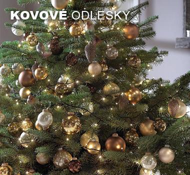Metalické vánoční dekorace
