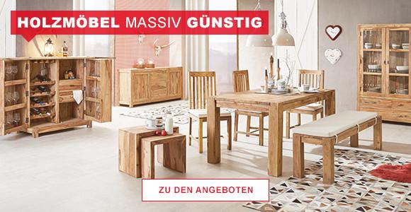 Holzmöbel massiv & günstig
