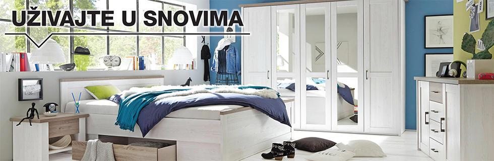 Moderna spavaća soba i ormar Lesnina XXXL