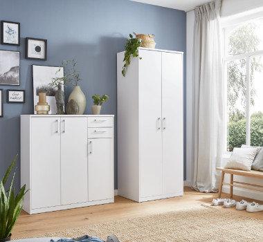 weiße Garderobe Schranksystem