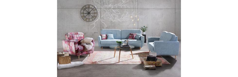 Sedežne garniture v pastelnih barvah
