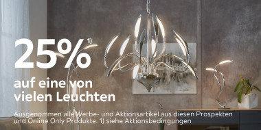 25% eine von vielen Leuchten