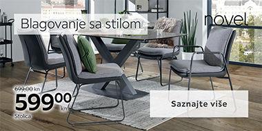 Elegantan stol i stolice za blagovaonicu Lesnina XXXL