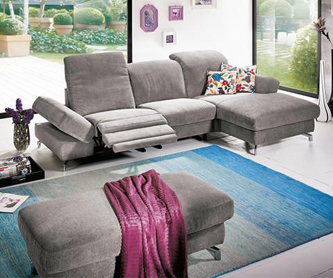 Moderano Wohnzimmer Möbel graues Sofa verstellbar