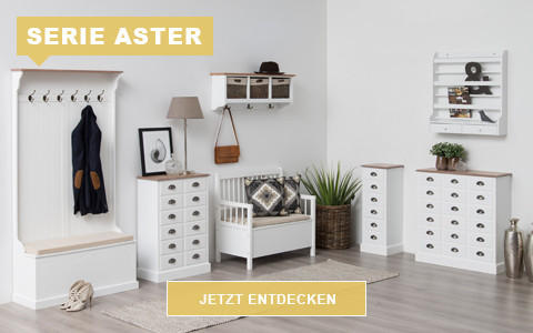 Garderobe Aster weiß rustikal