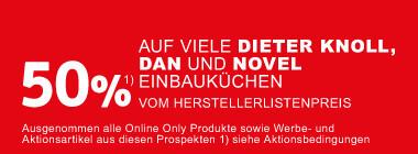 Einbaukuechenaktion 50 Prozent auf viele Einbaukuechen der Marke Dan Novel DieterKnoll