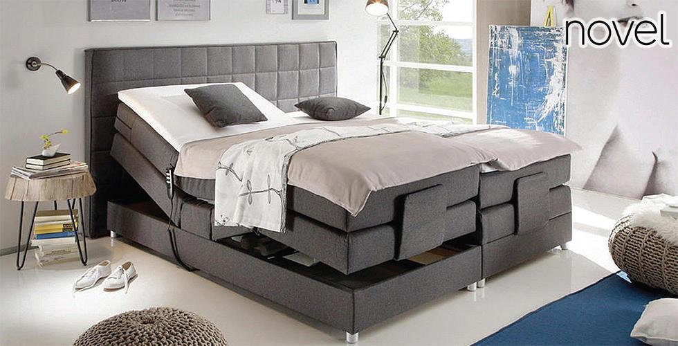 sivi boxspring krevet madrac s elektromotorom