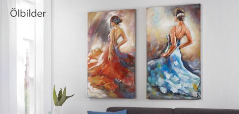 Ölbild Frau tanzt Monee