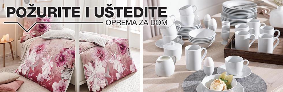 Moderna posteljina i bijeli kombinirani servis za jelo XXXL Lesnina