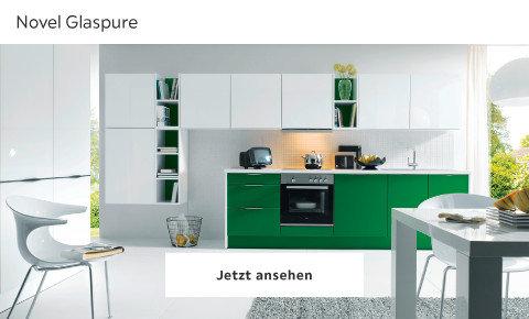 Novel grüne Küche Glaspure