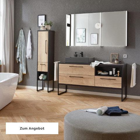 Badezimmerserien Braun Schwarz Holz Spiegel